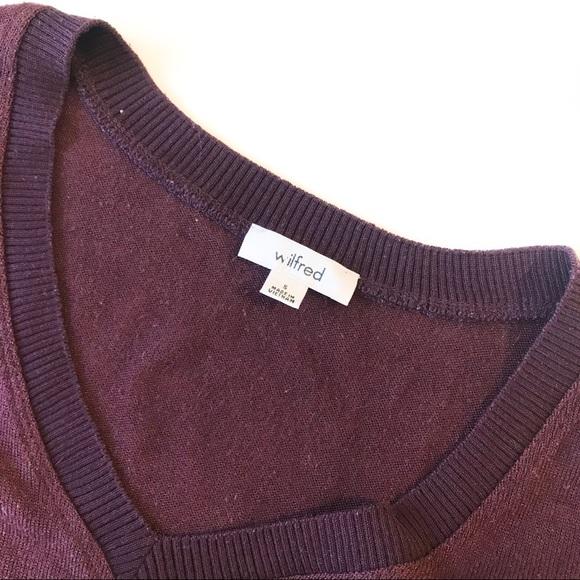 Wilfred Sherbrooke Sweater Top Side slit